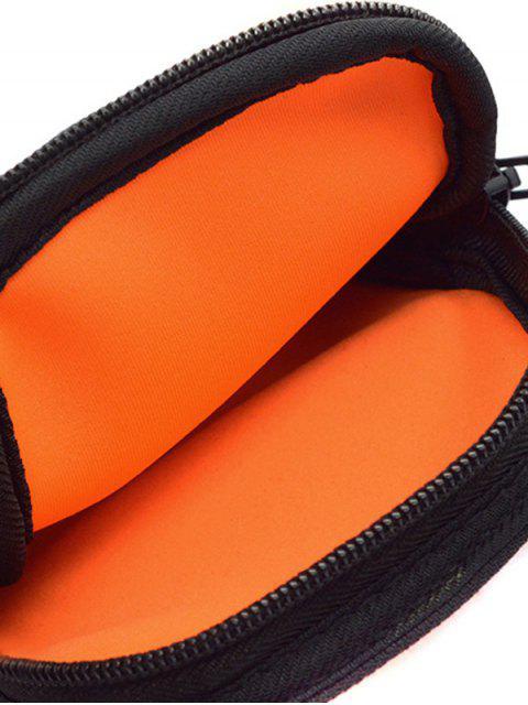 unique Polyester Colour Block Running Arm Bag - BLACK  Mobile