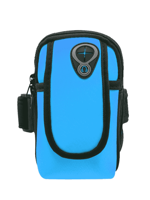 buy Polyester Colour Block Running Arm Bag - BLUE  Mobile