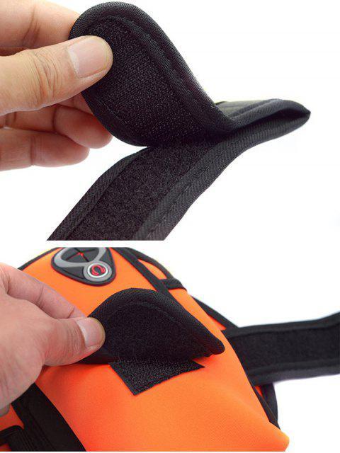 women Polyester Colour Block Running Arm Bag - BRIGHT ORANGE  Mobile
