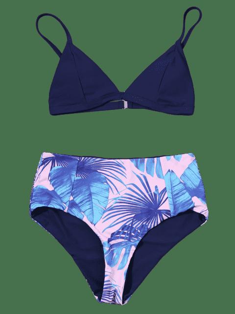 outfit Reversible Bikini Set with Palm Leaf Print - COLORMIX L Mobile