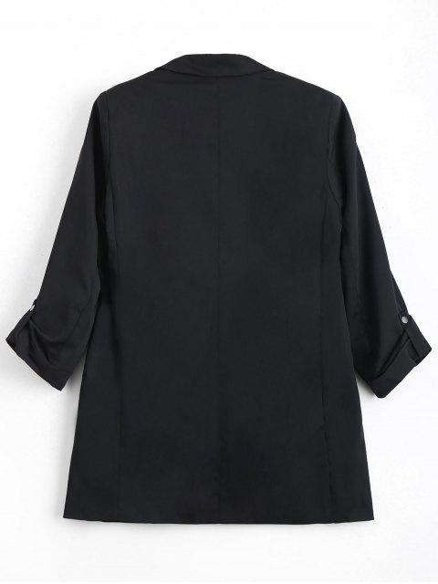 buy Invisible Pockets Lapel Blazer - BLACK M Mobile
