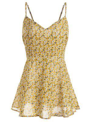 Plus Size Blumendruck Wrap Cami Top