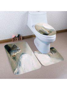 شاطئ محارة نمط 3 قطع المرحاض حصيرة حمام حصيرة - جمل