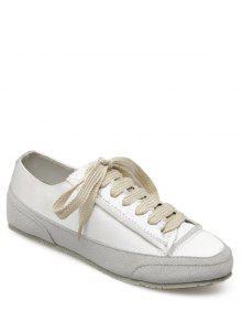 سويد إدراج أحذية الساتان - أبيض 40