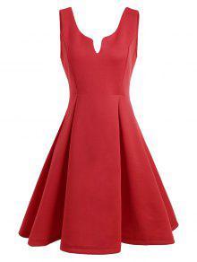 A فستان نادي بلا أكمام مفتوحة الظهر بخط - أحمر L