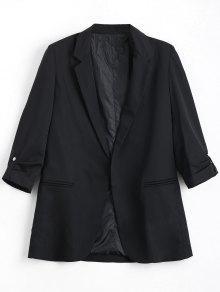 Invisible Pockets Lapel Blazer - Black S