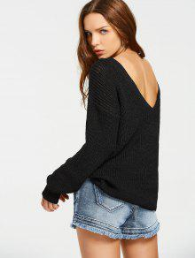 Back V Oversized Chunky Sweater