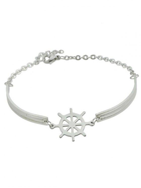 Bracelet de charme de bateau Helm - Argent