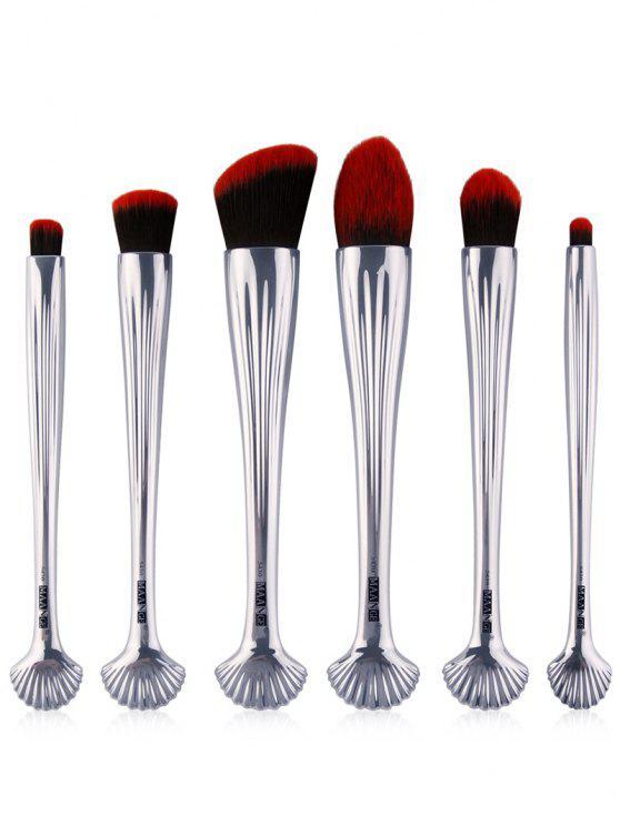 6Pcs Pinceaux multi-usages - Noir Rouge