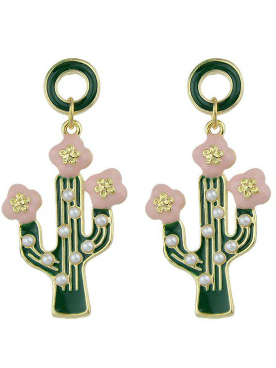 new Cactus Pendant Earrings - GREEN