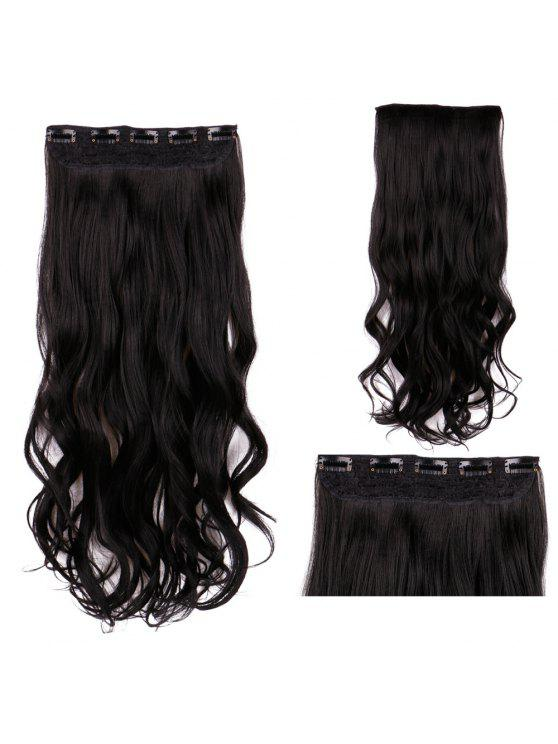 2018 Long Clip In Wavy Synthetic Hair Extension In Black Zaful