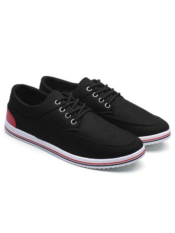 أدنى حذاء قماش أعلى - أسود 40