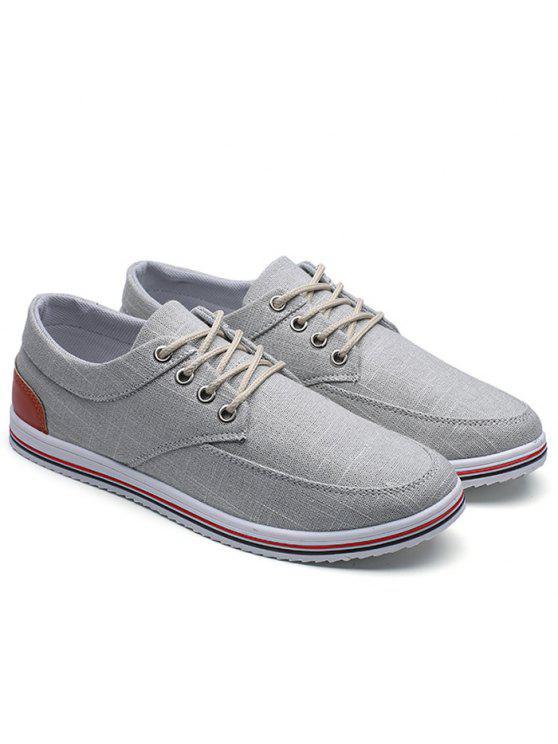 أدنى حذاء قماش أعلى - اللون الرمادي 41