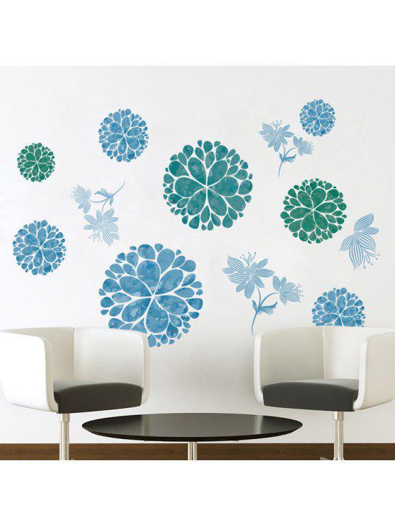 الزهور القابلة للإزالة ملصقات الحائط الفن لغرفة المعيشة - الثلج الأزرق 60 * 90CM