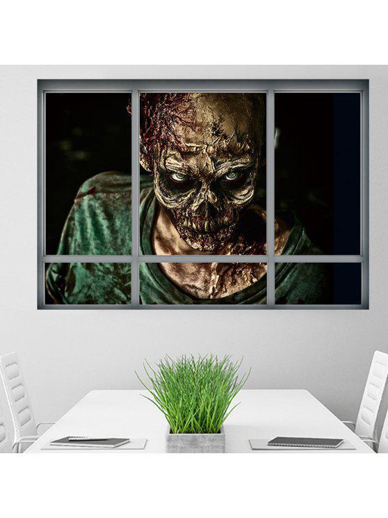 هالوين نافذة الكسول 3d جدار الفن ملصق ل غرف النوم - مزيج ملون 48.5 * 68CM
