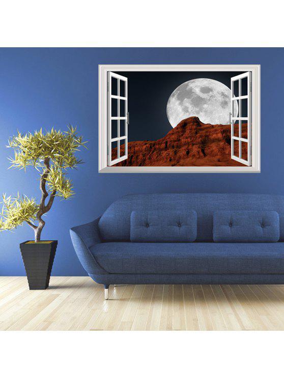 3d نافذة القمر ليلة إزالة جدار الفن ملصق - Colormix 48.5*72CM
