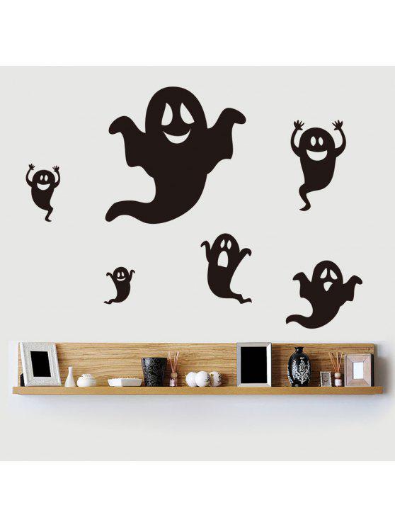 دي هالوين شبح الشكل ملصقات الحائط - أسود