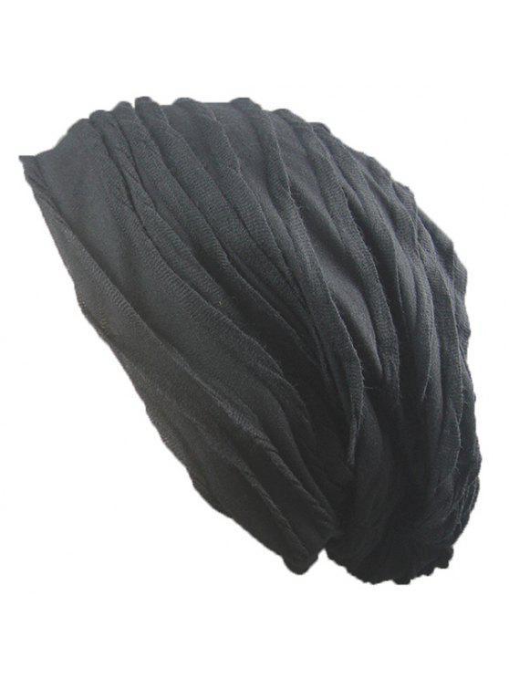 Sombrero Plegable Tricotado Caliente - Negro