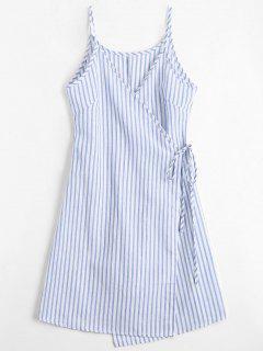 Cami Striped Wrap Dress - Blue Xl