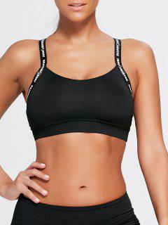 Padded Criss Back Workout Bra - Black Xl