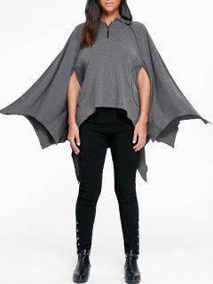 Halloween Handkerchief Poncho Hoodie - Gray 2xl