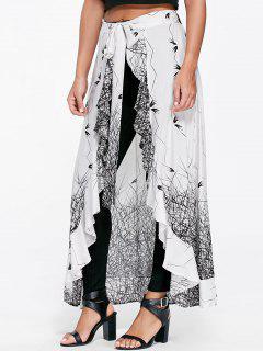 Pantalon Jupé Volanté Noir Et Blanc - Blanc Et Noir L