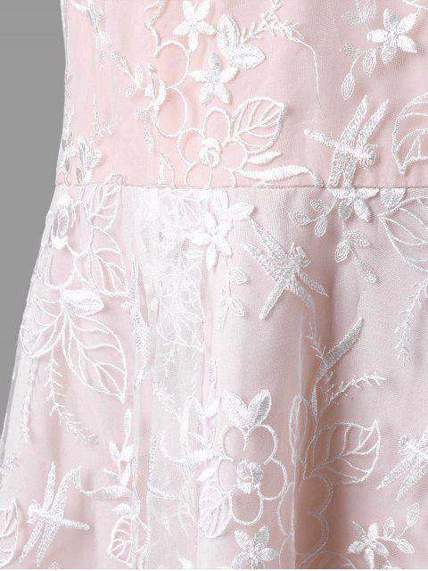 Robe de patau robe à manches sans manches - Rose Abricot XL Mobile