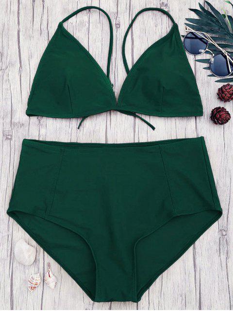 Ensemble de bikini à taille haute et haute taille - Vert 2XL Mobile
