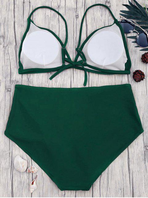 outfit High Waisted Plus Size Bikini Set - GREEN XL Mobile