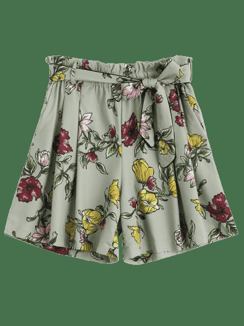 Shorts à taille haute - Floral L Mobile