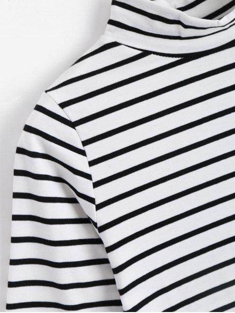women High Neck Striped Tee - STRIPE S Mobile
