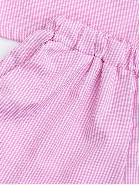 Shorts découpés à bout en bout de cheville avec fermeture à glissière - Carré XL Mobile