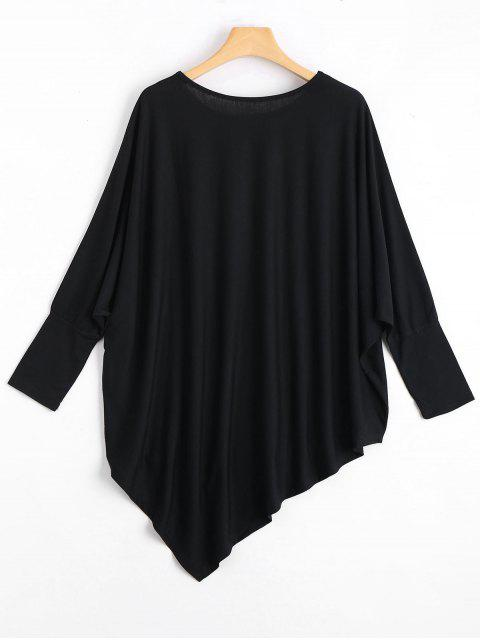 Tissu asymétrique Dolman Sleeve - Noir TAILLE MOYENNE Mobile