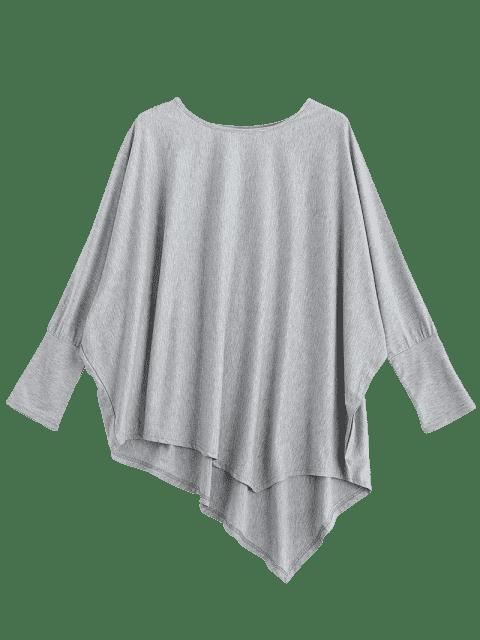 Tissu asymétrique Dolman Sleeve - Gris TAILLE MOYENNE Mobile