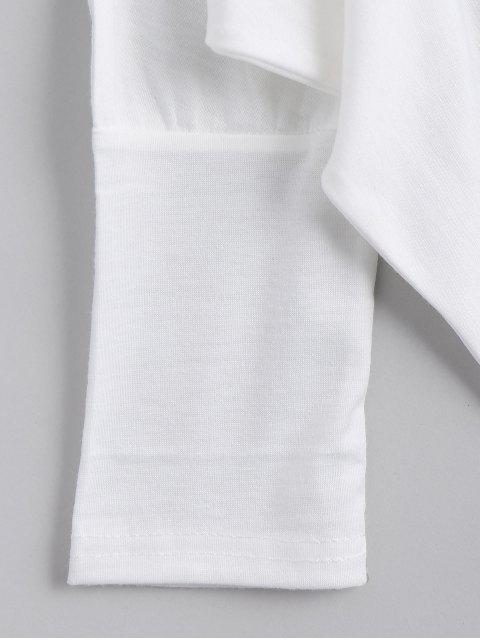 Tissu asymétrique Dolman Sleeve - Blanc TAILLE MOYENNE Mobile