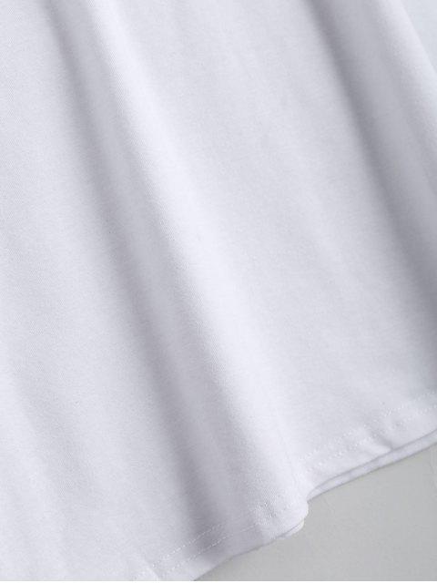 T-shirt à épaulettes - Blanc L Mobile