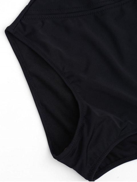 Maillot de Bain Une Pièce Épaules Dénudées - Noir M Mobile