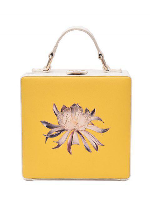 La caja floral de la caja de la impresión floral - Amarillo  Mobile