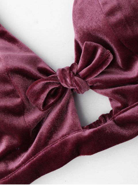 Ensemble culottes et shorts en velours découpé - Bordeaux XL Mobile
