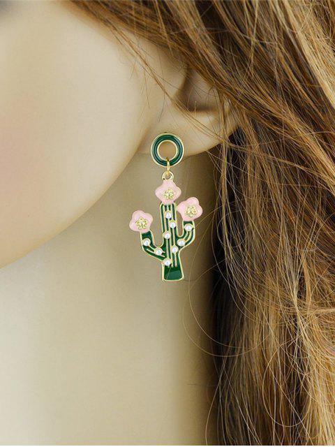 new Cactus Pendant Earrings - GREEN  Mobile