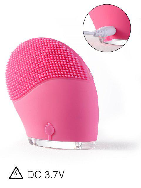 unique Electric Massage Silicone Facial Cleansing Brush Device -   Mobile
