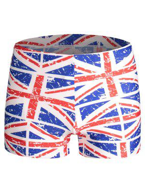 Drapeau affligé Print Swim Trunks