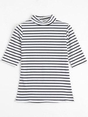 Camiseta Rayada De Cuello Alto - Raya - Raya Xl