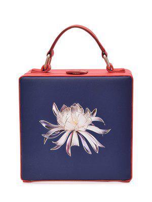 La Caja Floral De La Caja De La Impresión Floral - Azul