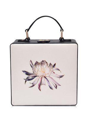Umhängetasche mit Box-geformte und Blumen-Druck