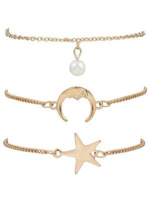 3 Pieces Moon Star Bracelets