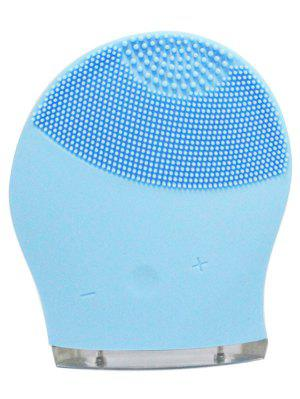 Electric Massage Silicone Facial Cleansing Brush Device - Azure