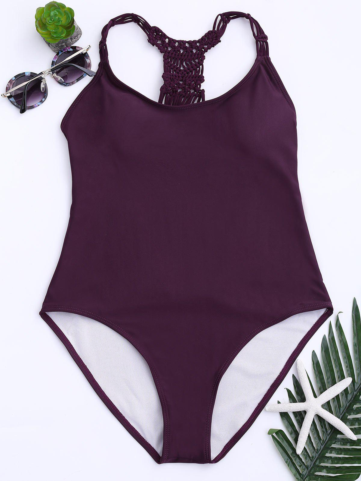 Strappy Cutout One Piece Swimsuit 222718301