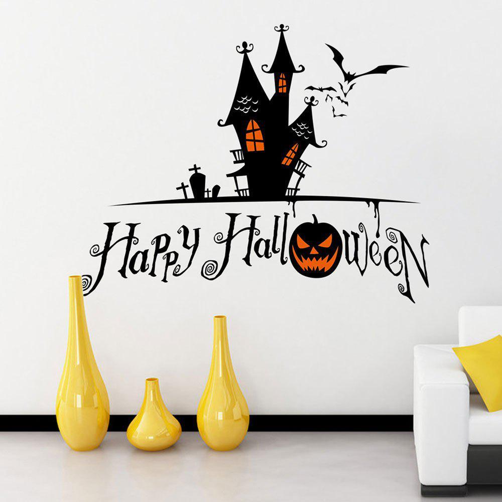 Bricolage Autocollants de mur en forme de château de Halloween