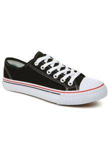 تنفس قماش أحذية رياضية بسيطة - أسود 41